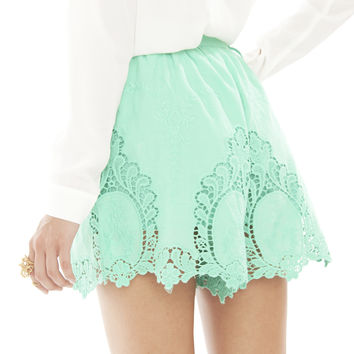 Venice Shorts - Mint | SABO SKIRT