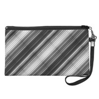 Shades of Grey Stripe Print Wristlet