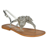 Naughty Monkey Rhinestone Bow Sandal at Von Maur