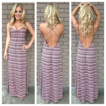 Coral Tribal Low Back Maxi
