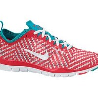 The Nike Free 5.0 TR Fit 4 Print Women's Training Shoe.