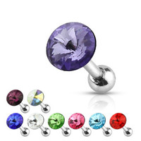 16 Gauge Pointy Gem Cartilage Earring Stud Body Jewelry Piercing
