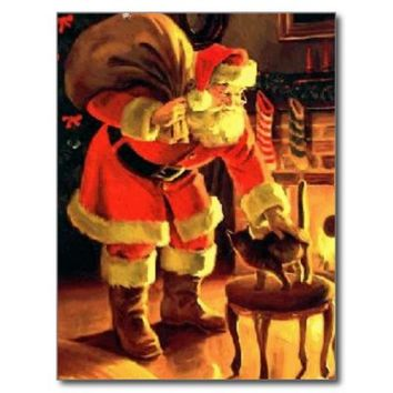 Santa and the Cat