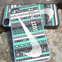 Nike aztec mint (2) A - iPhone 4/4s/5/5c/5s Case - Samsung Galaxy S2/S3/S4 Case- Blackberry z10 Case- iPod 4/5 Case - Black or White