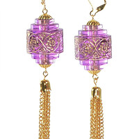 Lavender Chinese Lantern Earrings