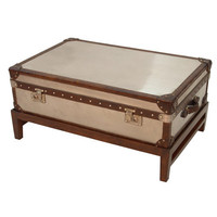 Halo Styles Watson Trunk Medium W/ Stand - Steel|Lu78 at livingcomforts.com