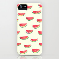Watercolor Watermelon iPhone & iPod Case by Jacqueline Maldonado