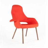 High Back Tête-à-Tête Chair in Orange