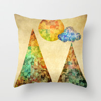 Sunday Throw Pillow by SensualPatterns