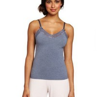 Intimo Women's Soft Knit Sleep Cami with Lace