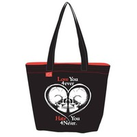 Pirates Reversible Tote Bag by Goodie Two Sleeves (Black/Red)