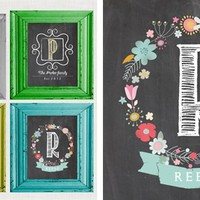 Adorable Chalkboard Name Prints