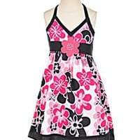 "Sugah & Honey ""Garden Halter"" Dress (Sizes 4 - 6X)"