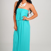 Oh My Heavens Dress: Turquoise