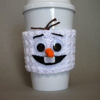 Frozen Olaf Crocheted Coffee Cup Cozy