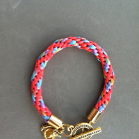 Unicorn Handmade Kumihimo Bracelet by rehabcraftshop on Etsy