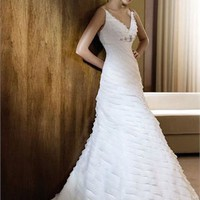 White A line Gown Multilevel Organza Wedding Dress WDMB024 -Shop offer 2012 wedding dresses,prom dresses,party dresses for girls on sale. #Category#