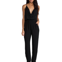 Eight Sixty Jumpsuit with Pleating in Black