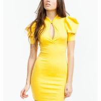Puffed Up Bodycon Dress - GoJane.com