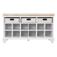 Corina Entry Bench - White
