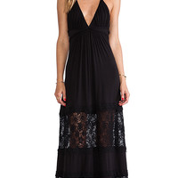 sky Shakira Halter Dress in Black