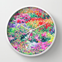 Secret Garden Wall Clock by Jacqueline Maldonado | Society6
