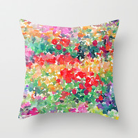 Secret Garden Throw Pillow by Jacqueline Maldonado