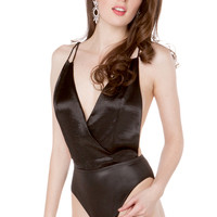 Rehab Sheen Bodysuit in Black