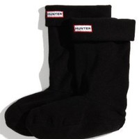 Hunter Fleece Short Welly Sock Black