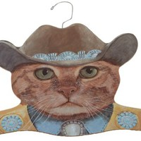 Stupell Home Cowboy Cat Coat Hanger