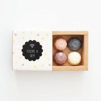 Jewel Soap Sampler Box - You're A Gem - Mini Gift Set