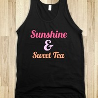 sunshine and sweet tea - glamfoxx.com - Skreened T-shirts, Organic Shirts, Hoodies, Kids Tees, Baby One-Pieces and Tote Bags