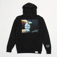 Arabic Shining Pullover Hood in Black