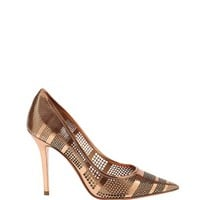Salvatore Ferragamo Susi Metallic Pump - Copper Pump - ShopBAZAAR