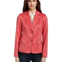 Jones New York Women`s Long Button Front Jacket