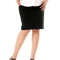 A Pea in the Pod: Self Belly Knee Length Pencil Fit Maternity Skirt