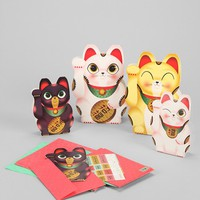 Lucky Cat Card Set - Urban Outfitters