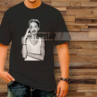 miley cyrus smoke grey T-Shirt by yupylup