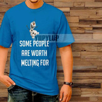 olaf quote vx2 some people are worth melting for T-Shirt by yupylup