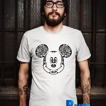 Swirly Mickey Face Men T-Shirt - Mickey Face T-Shirt - Mickey Mouse T-Shirt - Disney Design T-Shirt for Men (Various Color Available)