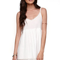 LA Hearts Crochet Trim Babydoll Dress at PacSun.com