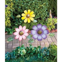 Unique's Shop Colorful Flower Garden Stakes-Purple