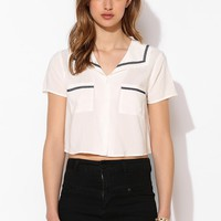 Coincidence & Chance Sailor Collar Cropped Blouse - Urban Outfitters