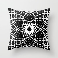 Black and White 60004 Throw Pillow by EML - CircusValley