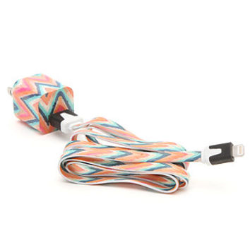 PacSun Hippy Chevron Cord iPhone 5 Charger at PacSun.com