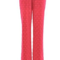 Juicy Couture Fruit Berry Red Heart Velour Thermal PJ Pant