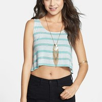 Liberty Love Stripe Crop Muscle Tank (Juniors) (Online Only) | Nordstrom