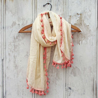 Moroccan Sunset Scarf in Cream
