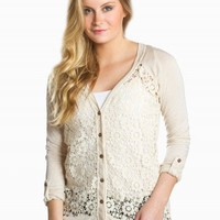 BLU PEPPER LACE CARDIGAN