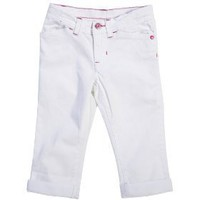 Carter`s Slim Fit Cuff Capri Soft Jeans Girls White (24 Months)